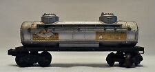 Vintage Lionel  Sunoco Oil Tanker Operating Copper Coiled Couplings Nice!