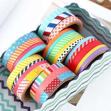 3 Rolls 5M DIY Paper Sticky Adhesive Sticker Scrapbooking Decor Craft Washi Tape