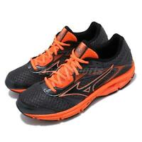Mizuno Wave Impetus 4 Grey Orange Black Men Running Shoes Sneakers J1GC1613-09