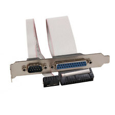 PCI Slot Header Serial DB9 Pin COM with Parallel DB25 Pin LPT Cable Bracket E0Xc