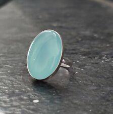 Aqua Chalcedony Ring 925 Sterling Silver Ring Band Ring Handmade Ring HYTIO546