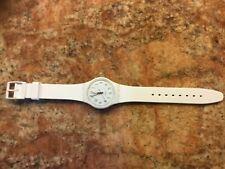 Swiss Swatch Originals White Bishop Silicone Band Classic Watch 34mm