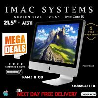 "APPLE IMAC A1311 21.5"" MID 2011 INTEL CORE i5 RAM 8GB 1TB HDD WEBCAM FREE POST"