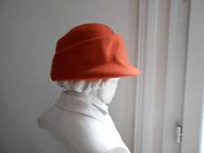 Chapeau couvre-chef orange 100 % laine femme