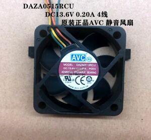 1pc AVC DAZA0515RCU DC13.6V 0.20A 5015 5CM 4-wire Cooling Fan