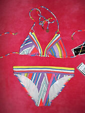 NWT $165 JUICY COUTURE RING TRIANGLE BIKINI SWIMSUIT , SIZE XS/S