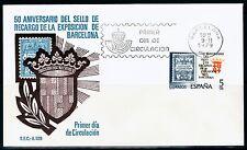 ESPAÑA SOBRE 1º DÍA 1979 2549 SELLO RECARGO.ESCUDO