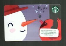 STARBUCKS ( Ireland ) Snowman and Cardinal ( 6156 ) 2018 Gift Card ( $0 )