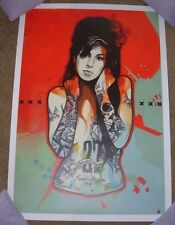 Amy Winehouse Back To Black concert gig art poster print tour Frank Daniel