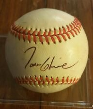 Tom Glavine Braves HOF Signed Auto ONLB Practice Used Baseball Signed In Person