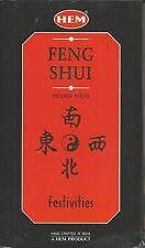 """Hem Feng Shui """"Festivites"""" Incense Sticks 5 Elements 100 Incense Sticks Total"""