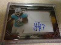2015 TOPPS STRATA CLEAR CUT AUTO RELIC ROOKIE JAY AJAYI MIAMI DOLPHINS