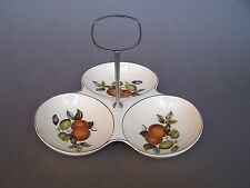 Vintage MIDWINTER Oranges & Lemons 3 Sections Serving Dish with Handle