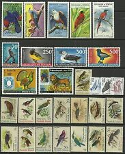 BIRDS = WW nice  Birds  collection lot -  mint mostly Senegal  MNH