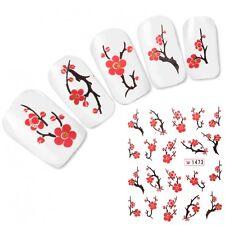 Tattoo Nail Art Aufkleber Kirschblüten Japan Nagel Sticker Neu!