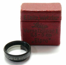 Leica ELPRO Close Up Lens Vorsatzlinse 1 type G 19mm Leitz boxed EXC+ #74252