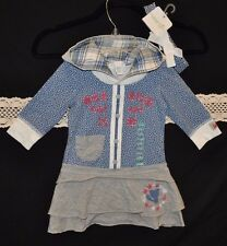 NWT Naartjie Kids Hooded Dotty Bow Dress w/ Matching Headband (6-12 Month)