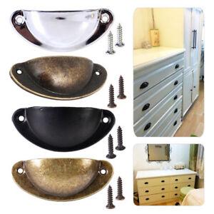 24X Kitchen Cupboard Door Cabinet Cup Drawer Bronze Shell Pull Handle Furniture