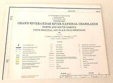 USDA Grand River-Cedar River National Grasslands No & So Dakota Visitors Map '81