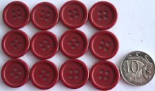 12 x 20MM RIDGED BUTTONS - BURGUNDY SHADES MATCHING - Sewing - Scrapbooking