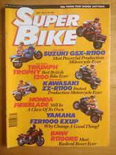 SuperBike Magazine - APR 1993 - GSXR1100 - TROPHY 1200 - ZZR1100 - EXUP - BLADE