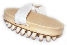 Anti Cellulite Body Massage Brush ✋Hand Held Wooden ✔️ Brand New ✉ Free P&P