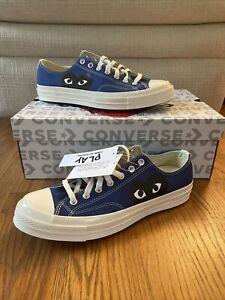 Converse x Comme Des Garcons Chuck 70 Low Sneakers -Blue Quartz(171848C) Size 11