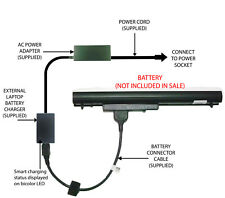 External Laptop Battery Charger for HP 340/345/350/355 G1/G2, LA04DF, 752237-001