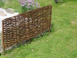 Natural Willow Border Edging 60/100cm x 30cm high Garden Lawn Wicker Fence