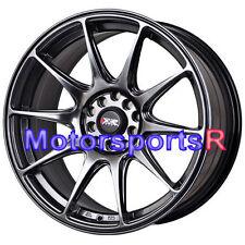 XXR 527 18 x 8 +42 Chromium Black Rims Concave Fin Type Wheels 5x112 Audi A4 A6