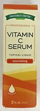 Nature's Truth Professional Vitamin C Serum Nourishing Topical Liquid-2oz. New