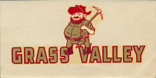 Grass Valley High School  _RARE_ ORIG 1960's Decal vtg Miners pre Nevada Union!!
