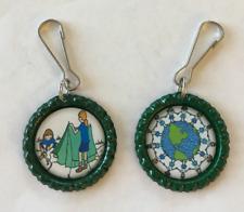 Handmade Girl Scouts Zipper Pulls Set of 2