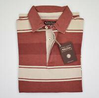 Polo Marlboro Classics Rosso a Righe Cotone Tinta in capo Vintage Taglia S Saldi