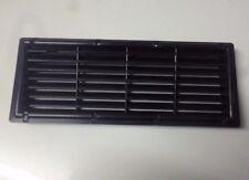Caravan or motorhome recessed black plastic fridge air vent 375mm by 150mm FVC3