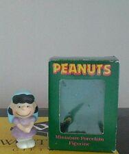 Vintage Peanuts Snoopy Lucy Nativity Ceramic Figurine Willitts 1989 Rare