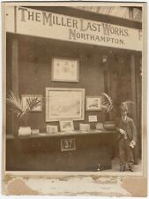 1900 Miller (Shoe) Last Works Exhibition Booth Cabinet Card Northampton England