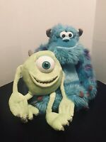"""DISNEY MONSTERS INC PLUSH 16"""" SULLY AND 8"""" MIKE WASOWSKI"""