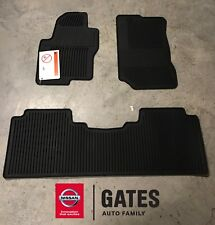 Nissan Frontier CREW Cab OEM Rubber All Weather Mats 2011 & Up 999E1-BX001BK