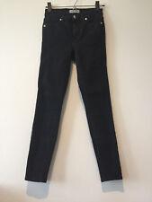 "Madewell 9"" High Rise Skinny Jeans Lunar Black 25 x 27"