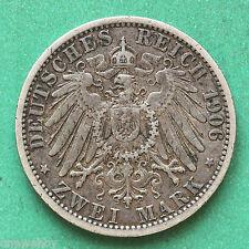 1906A Germany Silver 2 Mark SNo32761