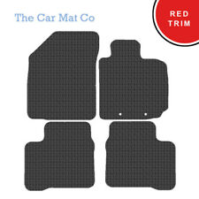 Suzuki Swift 2017-Present Fully Tailored Black Rubber Car Mats With Red Binding