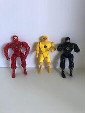 1995 Bandai Power Rangers Red, Yellow and Black Movie Ninjas