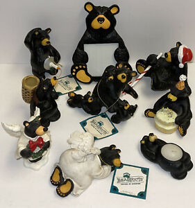 Huge lot Of 9 Nice Bearfoots Jeff Fleming Love Bears Figurines Genuine