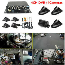 Vehicle Car 4CH Panoramic Mobile DVR Security HD Video Recorder SD+4 CCD Cameras