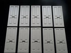 dolls house doors 1/12th scale x 10