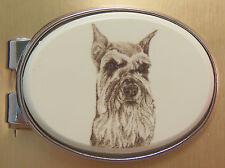 Money Clip Oval Barlow Photo Reproduction Schnauzer Dog Silver 539482 New