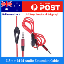 3.5mm Male to Male Audio Aux Stereo Headphone Extension Cable Cord with Mic