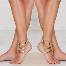 Coin Beach Chain Sandal Gold Jewelry Bracelet Women Anklet Foot Ankle Barefoot