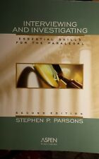 Interviewing and Investigating : Essential Skills for the Paralegal by Stephen …